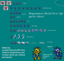 Magnamon Metal Xros Up Sprite Sheet by Lucho9