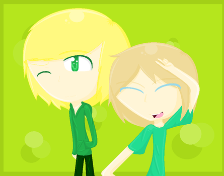me and my little brother by Ask-TheGreenLink