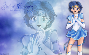 Sailor Mercury Wallpaper by MeganElf