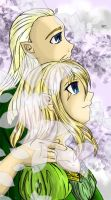 Art Trade: K and her Legolas by Miha-Hime