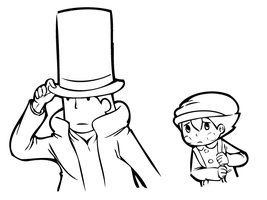 Professor Layton and Luke by CieM-Speng