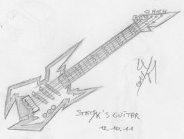 Statyk's guitar by McTaylis