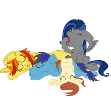 Sleepy Crusaders by eillahwolf
