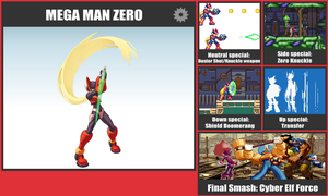 Mega Man Zero SSB Moveset by danilo11
