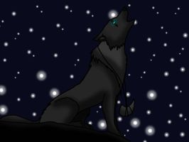 Howling into the night by Scarlettthedarkwolf