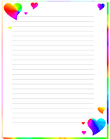 rainbow hearts stationary by Bubby-Bobble