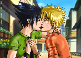 Sasuke x Naruto- the prom ring by wii-wii