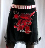 Rolling Stones skirt by smarmy-clothes