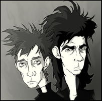 Nick and Blixa by WallyHindle