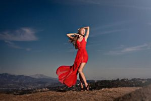 Julia at Mulholland Dr. by JunKarlo