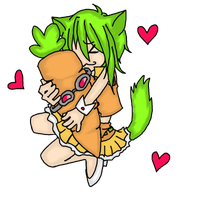 Vocaloid: Gumi kitty by Baka-Chibi
