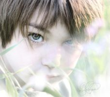Boy in Field of Tall Grass by ForeverCreative