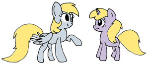 Derpy And Dinky by cadpig1099