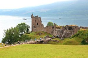 Urquhart Castle and Loch Ness by AgiVega