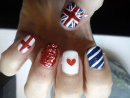 United Kingdom Nail Art by EnelyaSaralonde