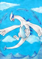 Lugia. The Guardian by KiaCookie