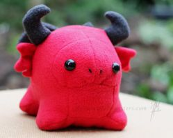 Red Mini-Gumdrop Dragon Plush by MyBeautifulMonsters