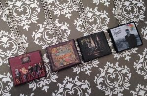 Panic!At The Disco album necklaces by InsaneJellyBean95