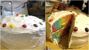 Double Rainbow Cake by soreen