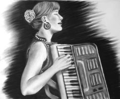 Accordion Lady by Kuenai