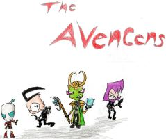 THE AVENGERS (invader zim style) by AgentDib