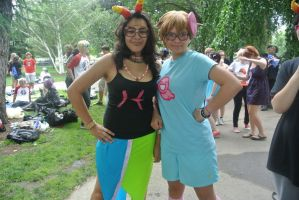 My finished Trickster John cosplay and Feferi by XPockyDemonX