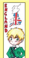 APH Bookmark- England by artemis-elric