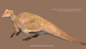 Joe Young  Parasaurolophus by GalileoN