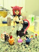 Maid Neko Girl Figure by chunkybutt