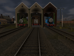 Thomas and Percy's Quarrel by SkarloeyRailway