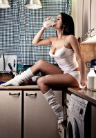 Drink Milk 01 by PinkFishGR