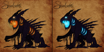 Shadowfell sketch (both colors) by TheStormUnleashed
