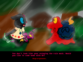 PKMNC: Meeting In The Rain by FoxxyFoxTrot