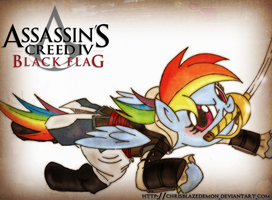 Rainbow Dash Assassins creed 4 Cosplay by ChrisBlazeDemon