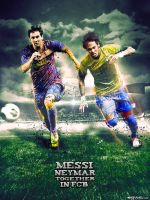 Messi Neymar by M-A-G-F-X-Graphic