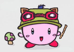 Kirby-Teemo by MuffinRaawr