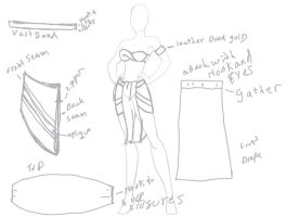 Kida Costume Design And Patern Sketch by Venray