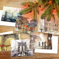Winter wonders postcard pack - poster by Zawij