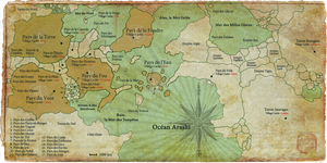 Naruto World Map (extended) by xpierrex