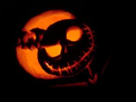 Jack Skellington O'Lantern by PennyHorrible