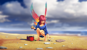 Erylia collecting seashells by MLeth