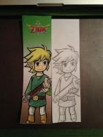 Toon Link Bookmark by SyncTempest27