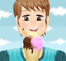eating icecream by zaske