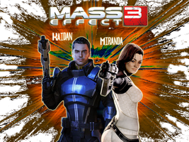 Kaidan and Miranda by MrJuniorer