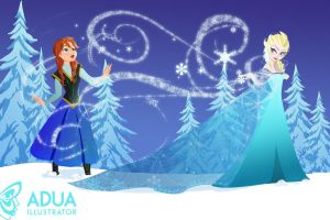 Elsa and Anna by SummoningTheDarkness