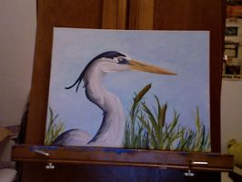 Great Blue Heron-Painting by Archykins