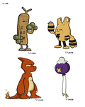 random assortment of pokemon by kihu