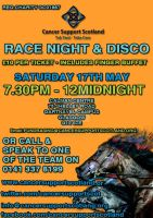 Race Night Poster - Cancer Support Scotland by TaintedVampire