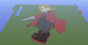 edward elric minecraft pixel art view 2 by speedcow12