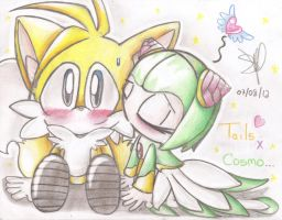 OMG ! Tails x Cosmo by SandraTailsD